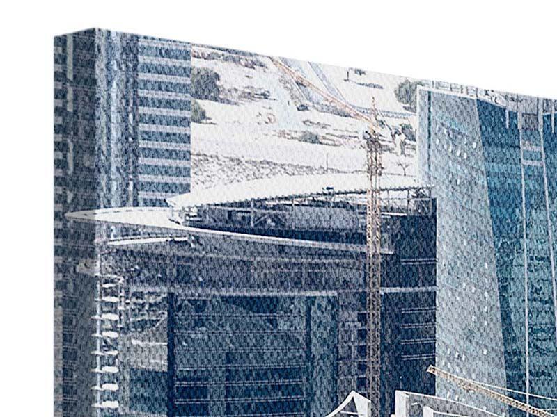 Leinwandbild Panorama Die Wolkenkratzer von Dubai