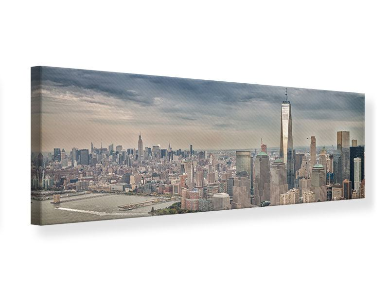 Leinwandbild Panorama Skyline Manhattan