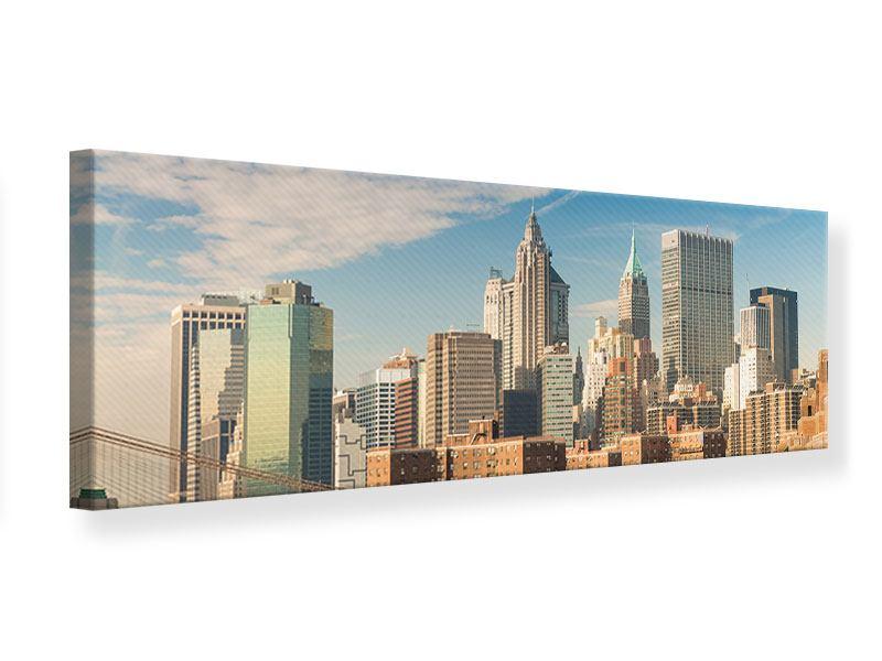 Leinwandbild Panorama Skyline New York