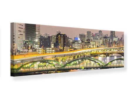 Leinwandbild Panorama Skyline Das Lichtermeer von Tokio