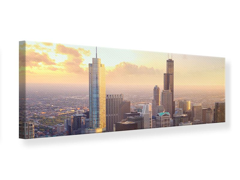 Leinwandbild Panorama Skyline Chicago