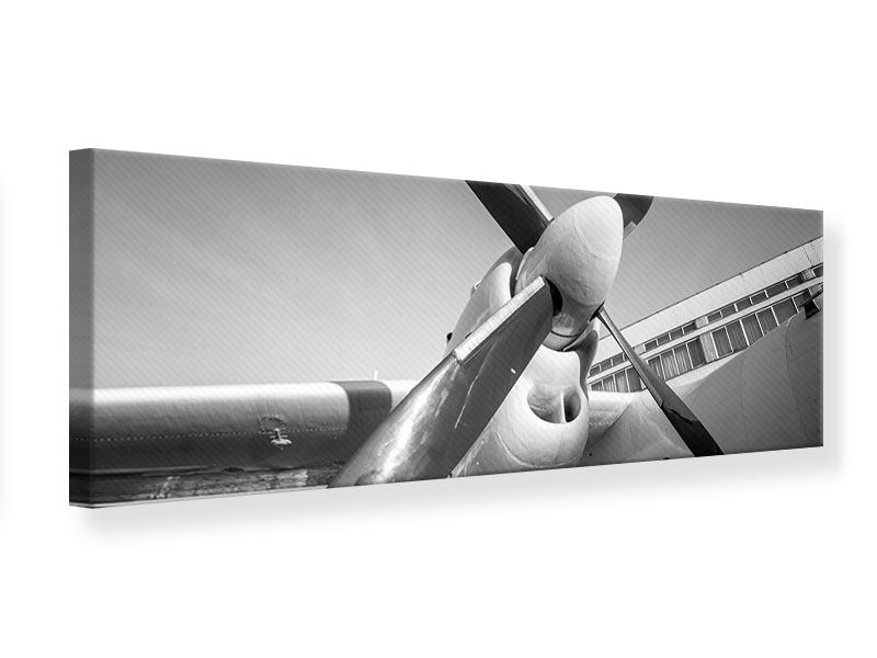 Leinwandbild Panorama Nostalgisches Flugzeug