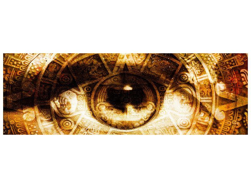 Leinwandbild Panorama Fraktales Auge