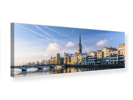 Leinwandbild Panorama Zürich