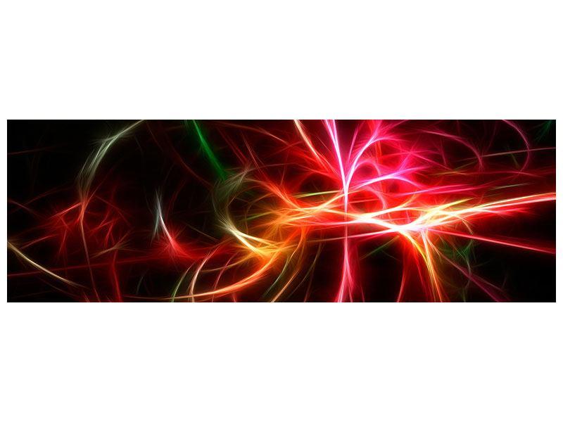 Leinwandbild Panorama Fraktales Lichtspektakel