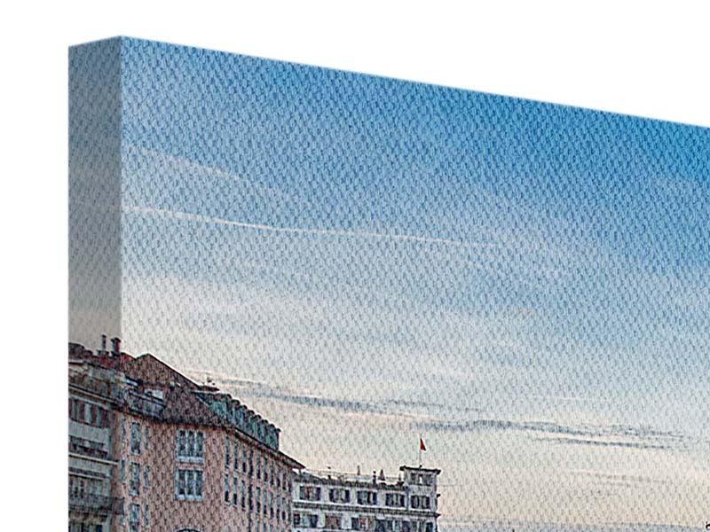 Leinwandbild Panorama Kosmopolitisches Zürich