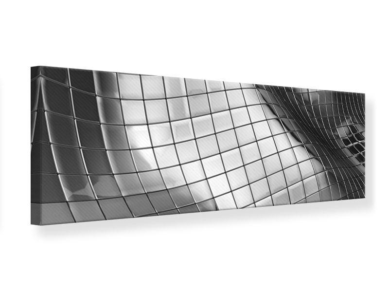 Leinwandbild Panorama Abstrakter Stahl
