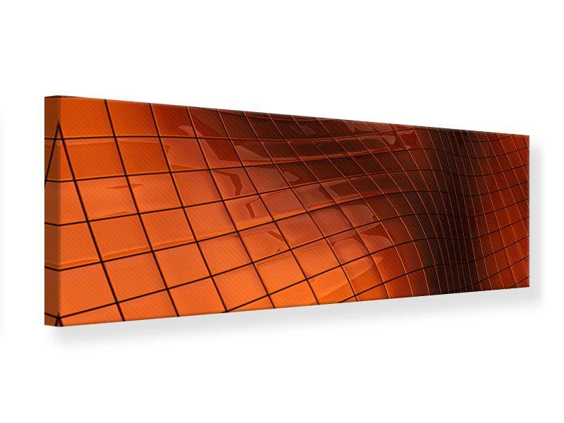 Leinwandbild Panorama 3D-Kacheln