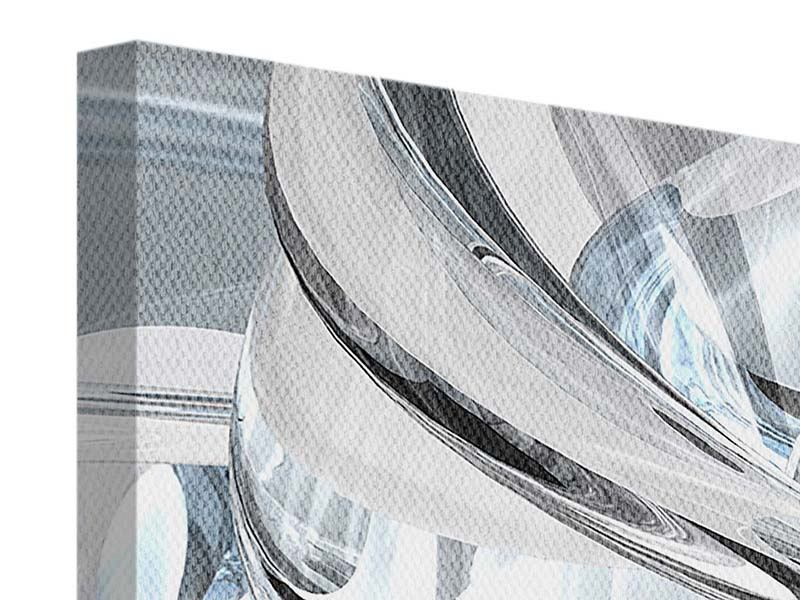 Leinwandbild Panorama Abstrakte Glasbahnen