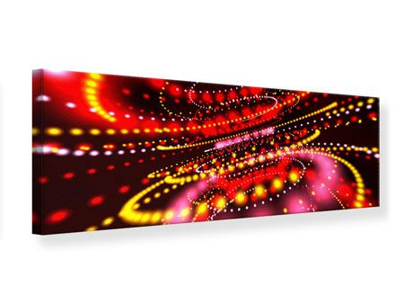 Leinwandbild Panorama Abstraktes Lichtspiel