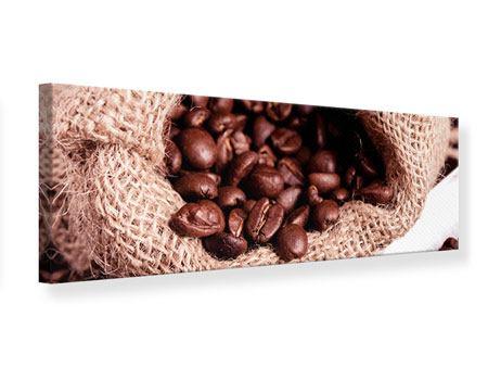 Leinwandbild Panorama XXL Kaffeebohnen