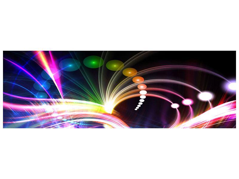 Leinwandbild Panorama Abstrakte Lichtreflexe