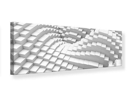 Leinwandbild Panorama 3D-Elemente