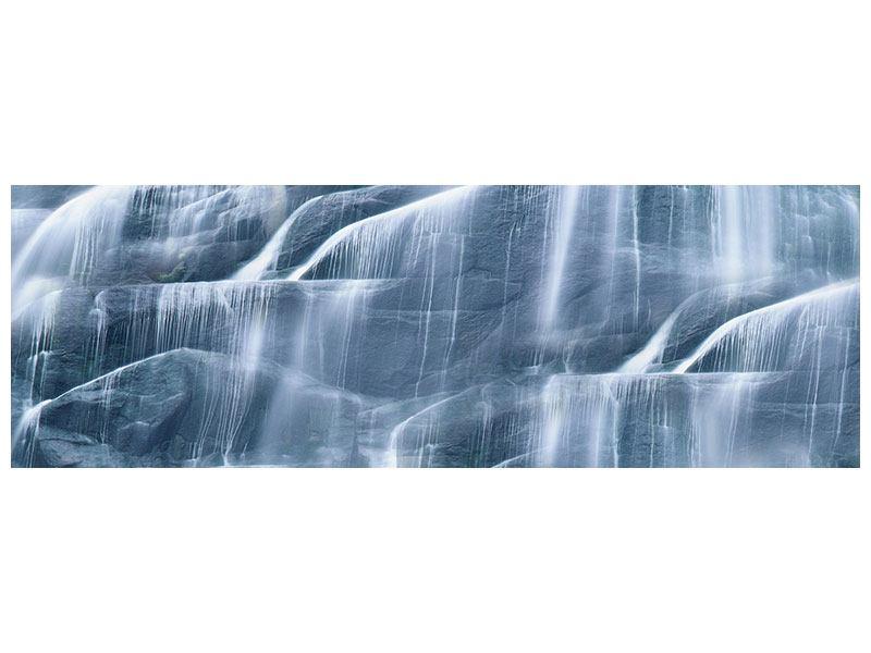 Leinwandbild Panorama Grossartiger Wasserfall