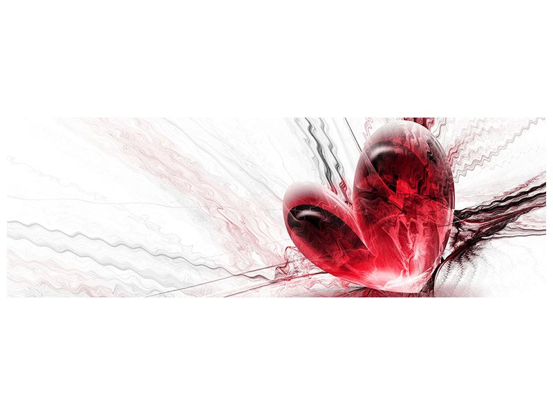 Leinwandbild Panorama Herzspiegelung