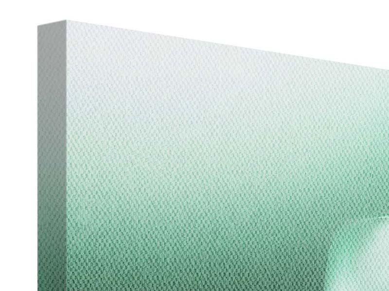 Leinwandbild Panorama Abstrakt Tuchfühlung