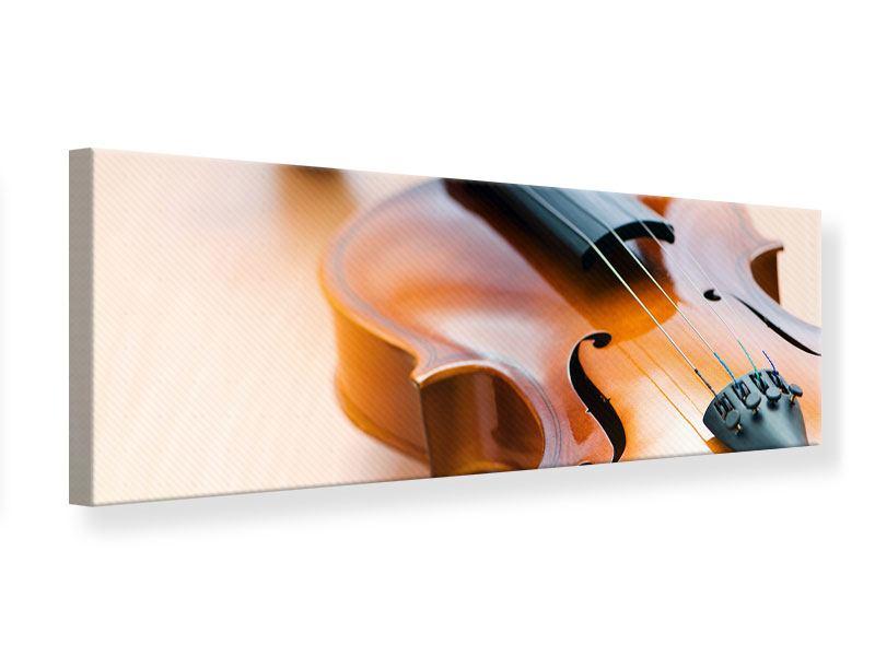 Leinwandbild Panorama Geige