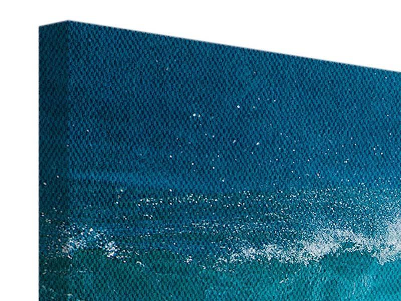 Leinwandbild Panorama Die perfekte Welle