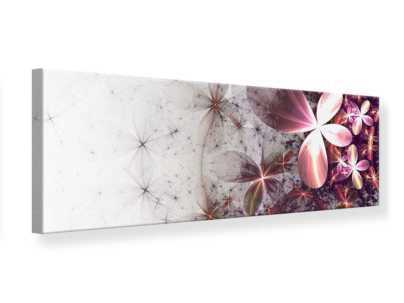 Leinwandbild Panorama Abstrakte Blumen