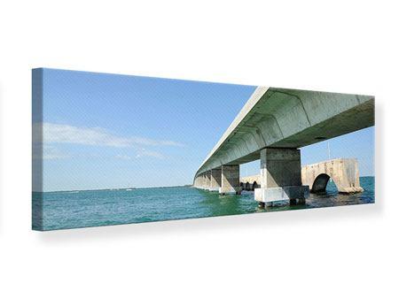 Leinwandbild Panorama Seven Mile Bridge