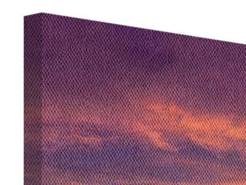 Leinwandbild Panorama Abenddämmerung
