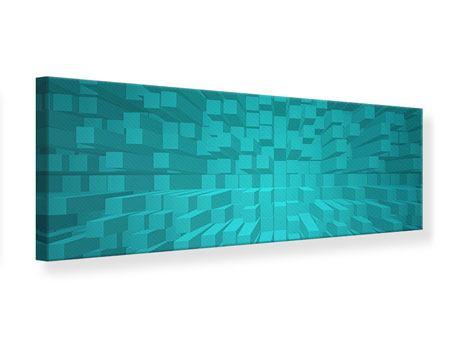Leinwandbild Panorama 3D-Kubusse