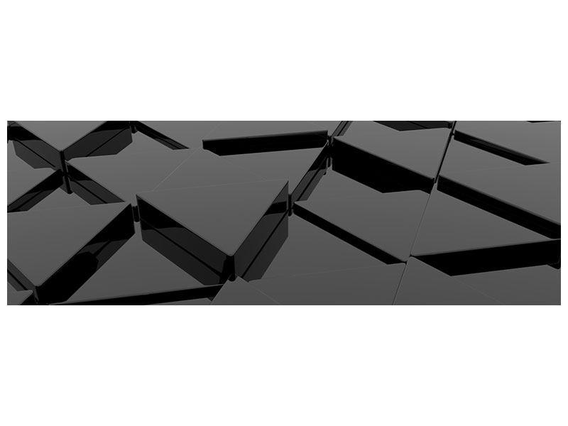 Leinwandbild Panorama 3D-Dreiecksflächen