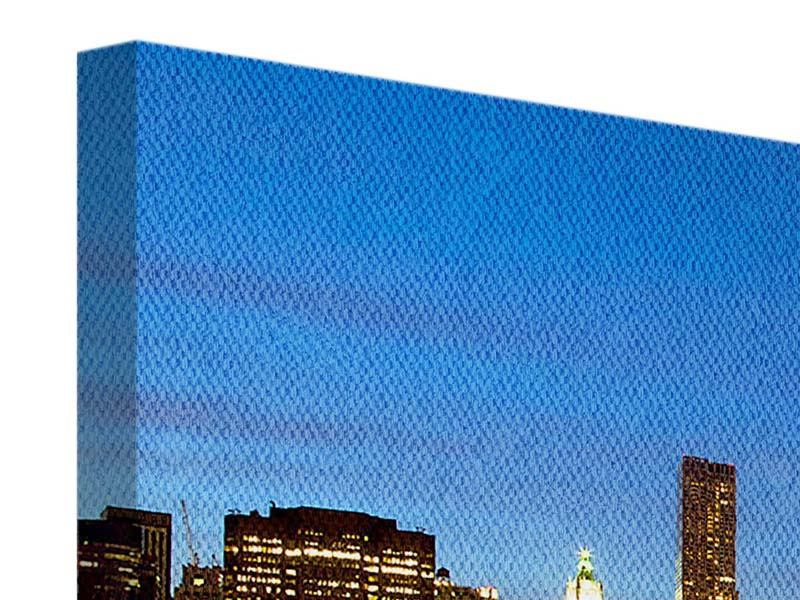 Leinwandbild Panorama Skyline Manhattan im Lichtermeer
