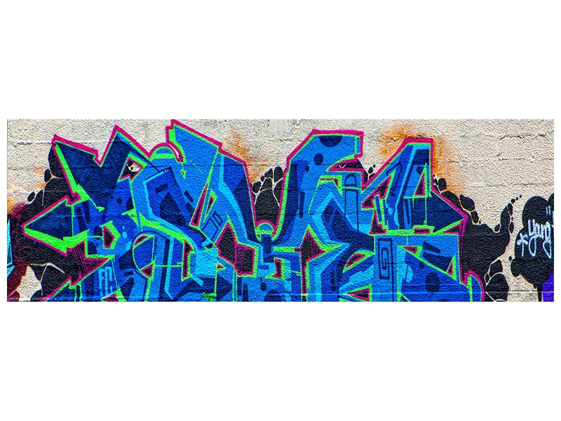 Leinwandbild Panorama Graffiti NYC