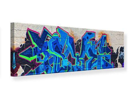 Leinwandbild Panorama Graffiti NYC