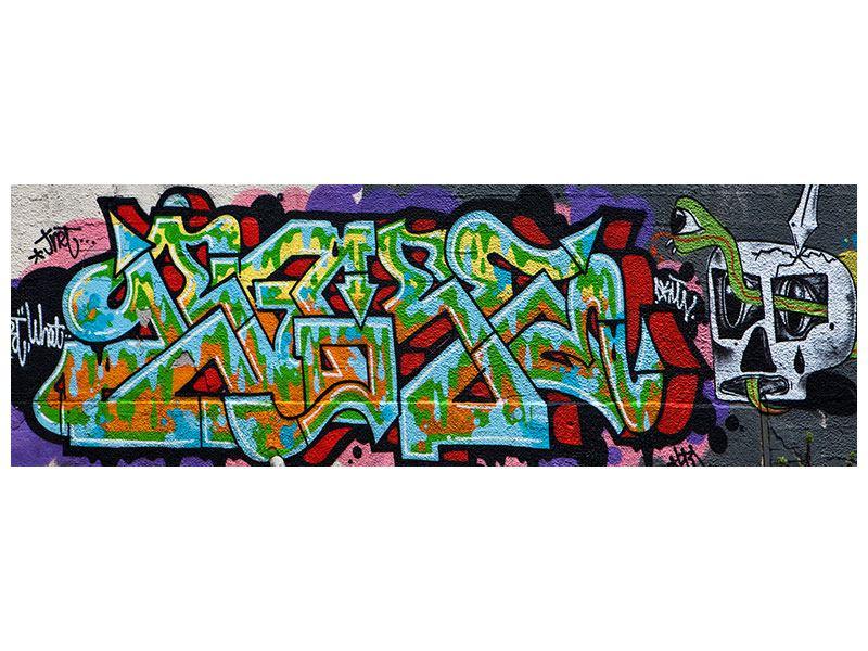 Leinwandbild Panorama Graffiti in New York