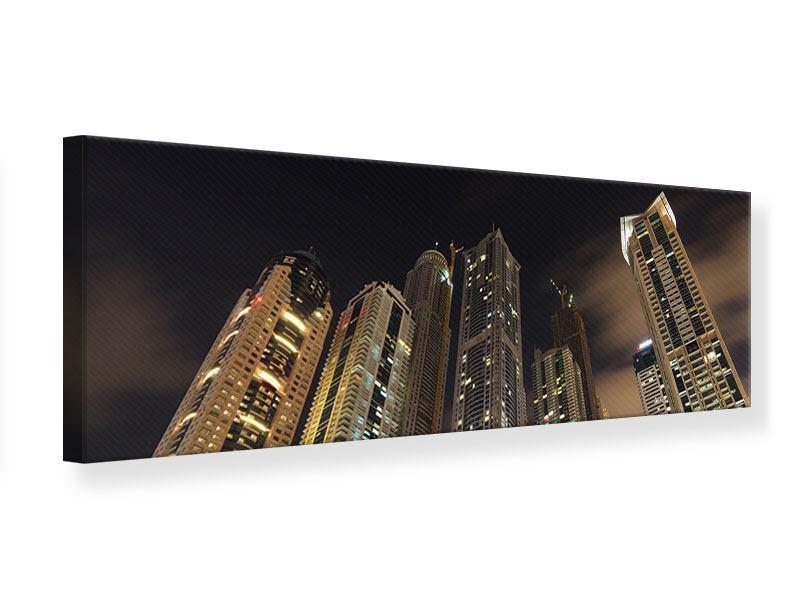 Leinwandbild Panorama Wolkenkratzer Dubai Marina