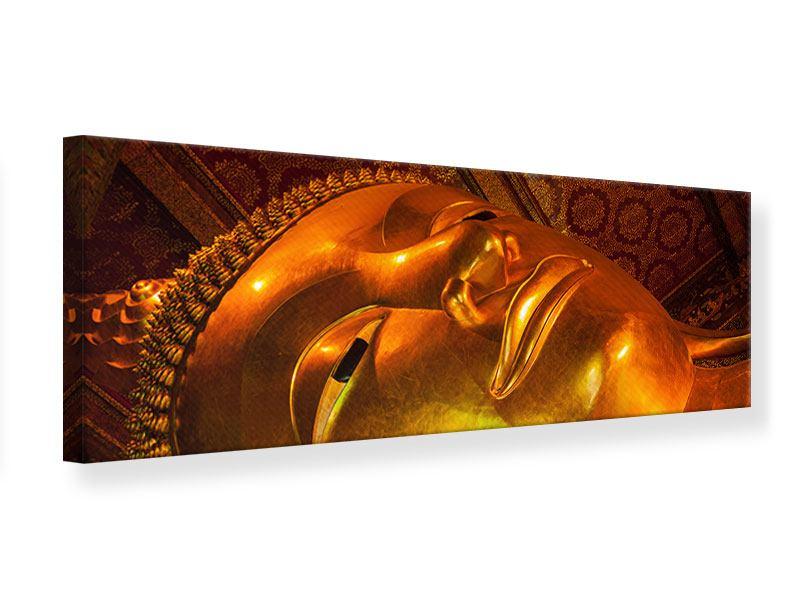 Leinwandbild Panorama Liegender Buddha