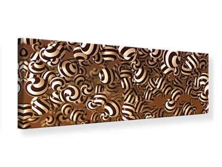 Leinwandbild Panorama Schokoladen-Bonbons