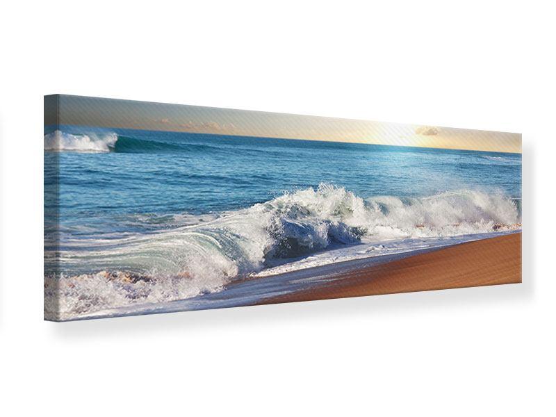 Leinwandbild Panorama Die Wellen des Meeres