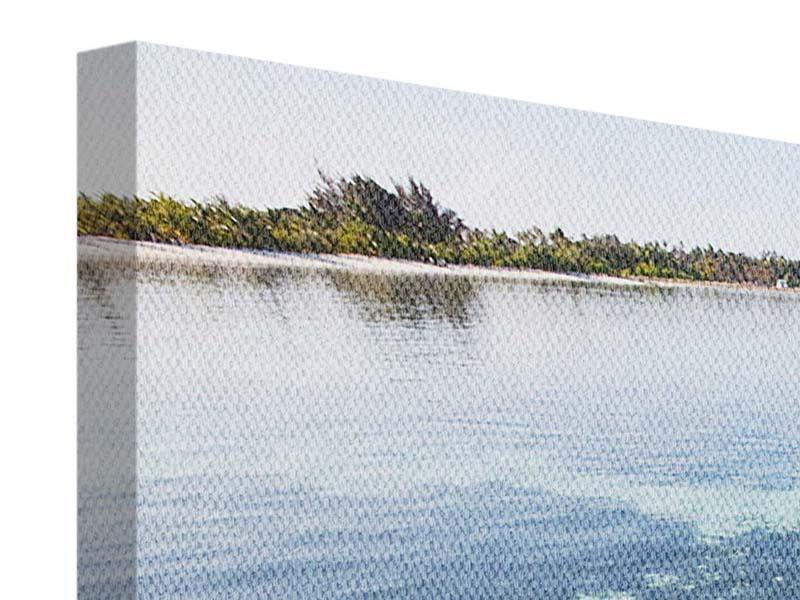 Leinwandbild Panorama Bad im Meer