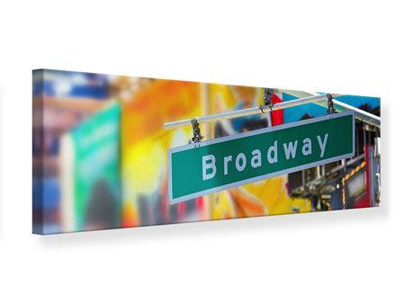 Leinwandbild Panorama Broadway