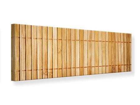 Leinwandbild Panorama Bambusrohre