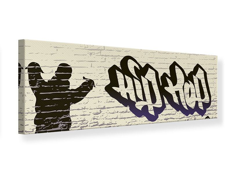 Leinwandbild Panorama Graffiti Hip Hop