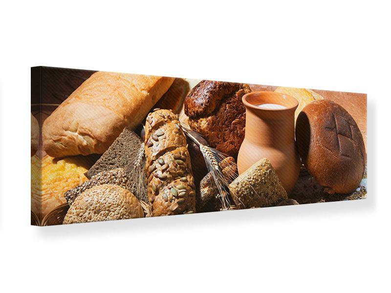 Leinwandbild Panorama Frühstücksbrote