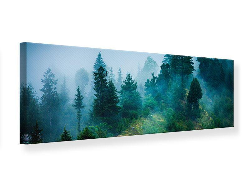 Leinwandbild Panorama Geheimnisvoller Wald