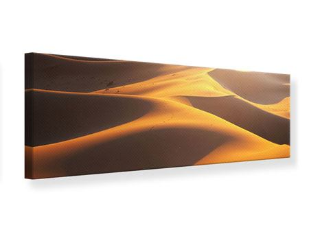 Leinwandbild Panorama Wüstenwanderung