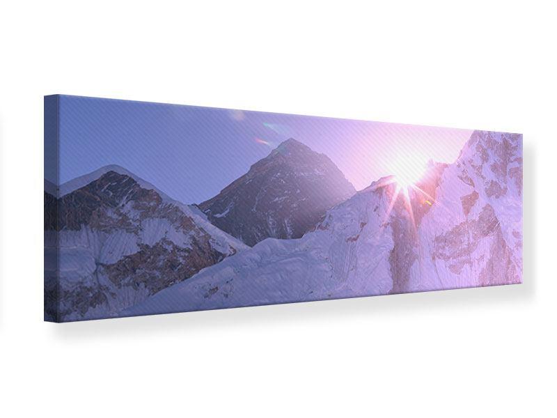Leinwandbild Panorama Sonnenaufgang beim Mount Everest