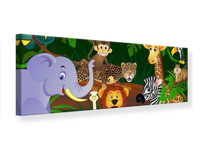 Leinwandbild Panorama Dschungelkönig