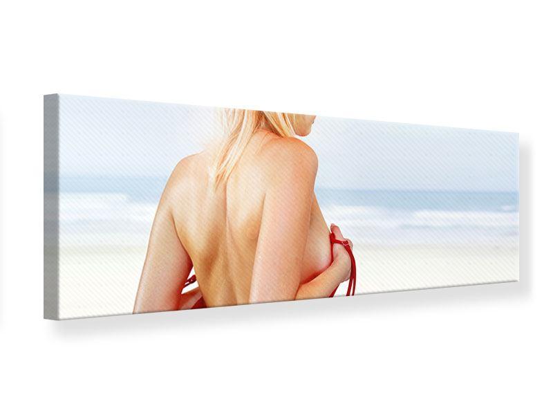 Leinwandbild Panorama Rücken einer Schönheit
