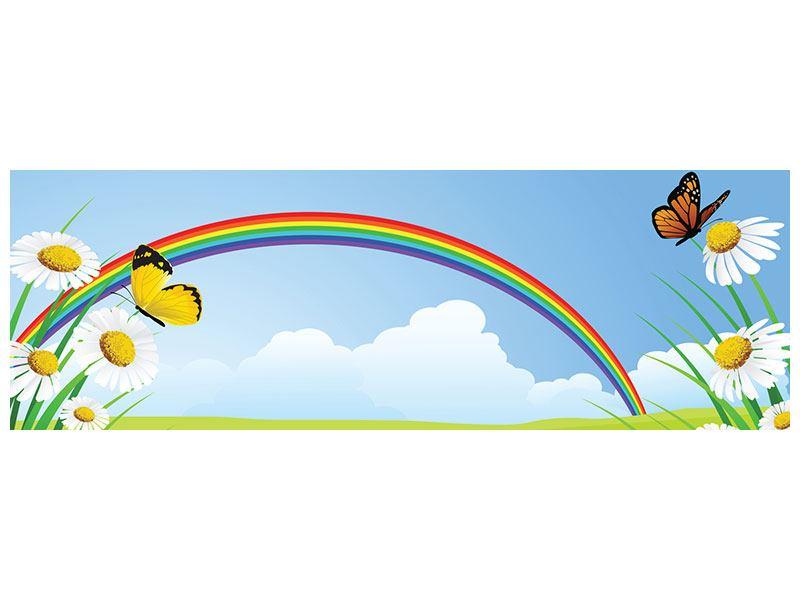 Leinwandbild Panorama Der bunte Regenbogen