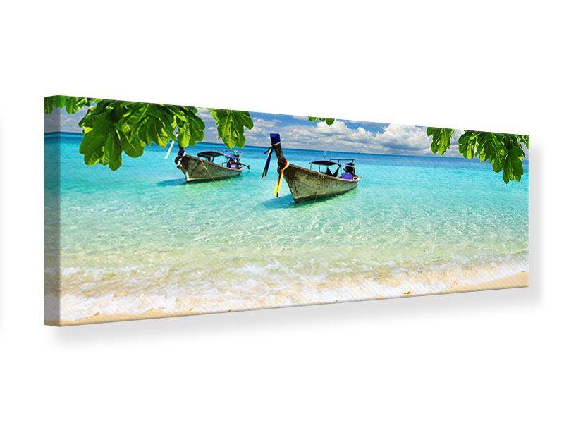 Leinwandbild Panorama Ein Blick auf das Meer