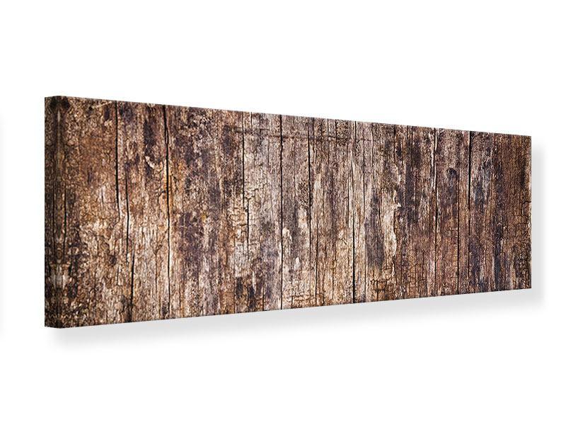 Leinwandbild Panorama Retro-Holz