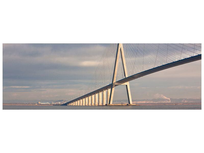 Leinwandbild Panorama Pont de Normandie