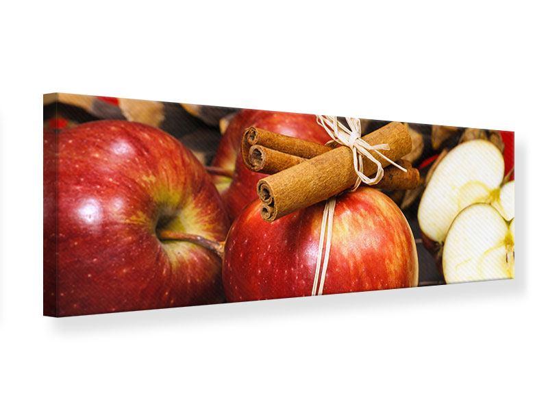 Leinwandbild Panorama Äpfel